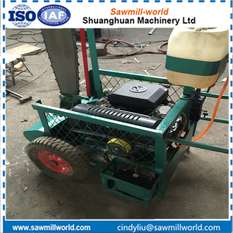 Portable cutting wood logs machine slasher with chain