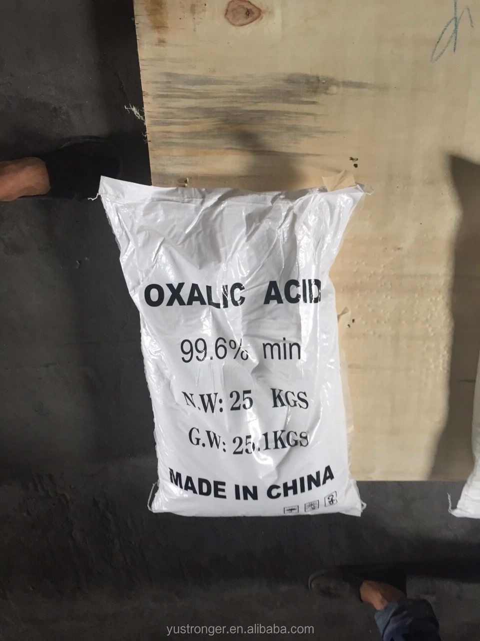 COA certificated of analysis qualified quality oxalic acid 99.6% indsutry grade for leather