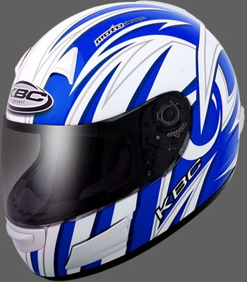 KBC TK8 Swirl full face motorcycle helmet Blue
