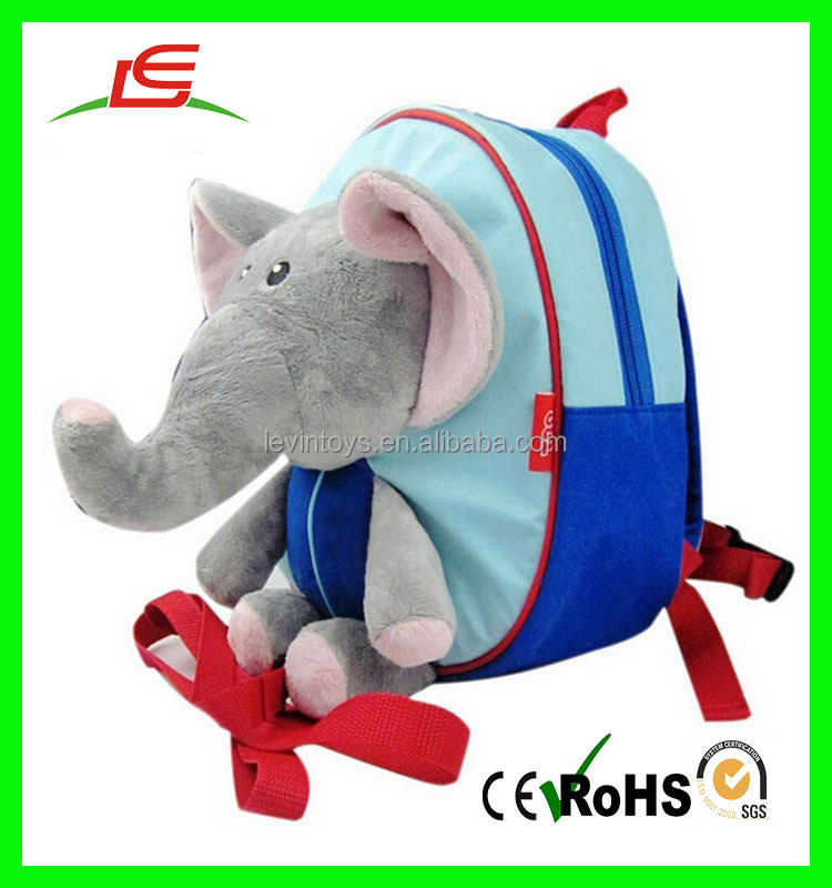 Baby Toddler Kid School Backpack Bag Cute Zoo Animal Soft Plush Elephant Children Backpack