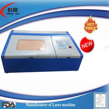 Acrylic nails cutting 50W mini laser engraving machine working area 30x20