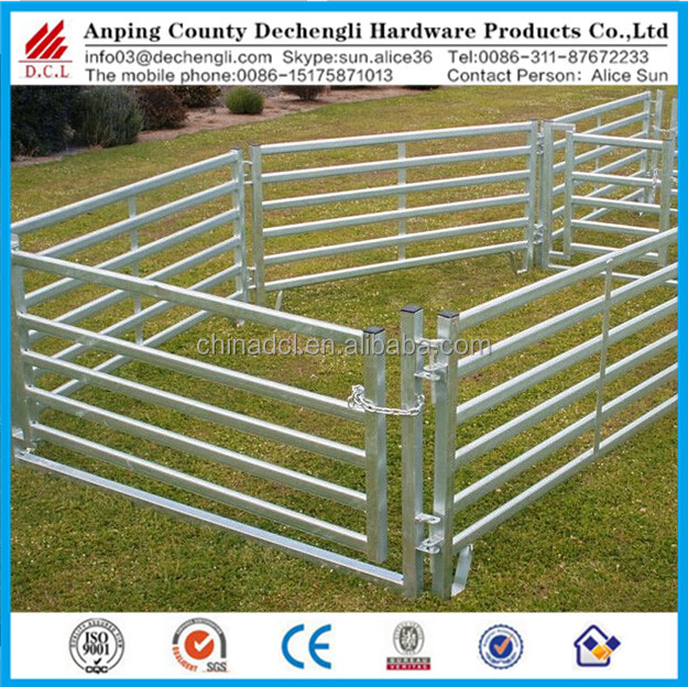 Heavy Duty Cattle Corral Panel / Galvanized Cattle Fence