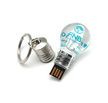 32gb LED Creative USB Flash Drive Light Bulb USB Stick Plastic