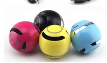 Bluetooth stereo sound mini speaker ball shape with led light