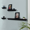 Set of 6 Painted Floating Wall Shelves wooden wall shelf