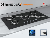 built in tempered glass gas cooker(CE approved)