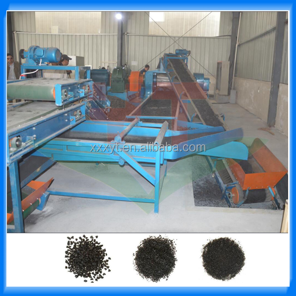 Scrap tyre processing machine to crumb rubber /rubber powder