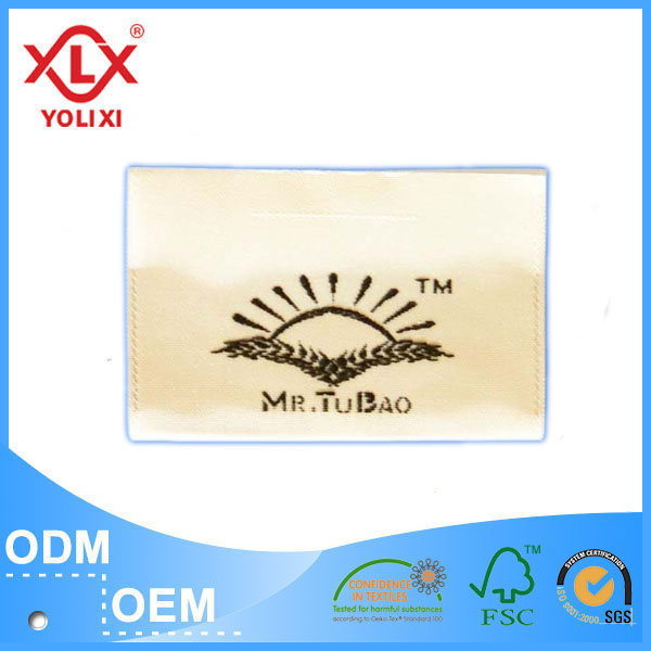 Clear woven garment label for cloth