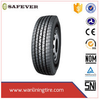 china golden supplier wanlining truck tire with DOT ECE certificates