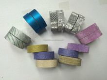 2015 colourful decorative adhesive glitter tape washy tape