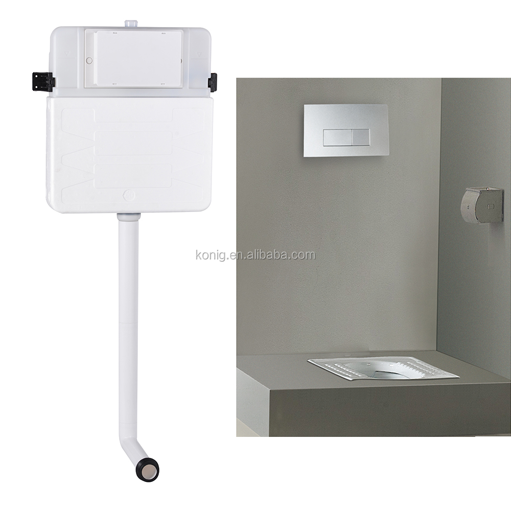 Water saving dual flush concealed toilet tank for squatting pan - concealed cistern 602C