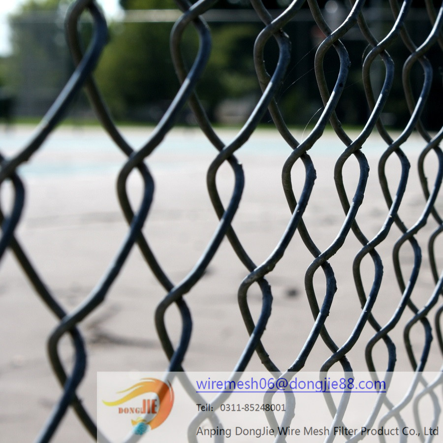 Bottom price promotional chain link fence covering fabric/Best quality cheapest practical chain link fencing