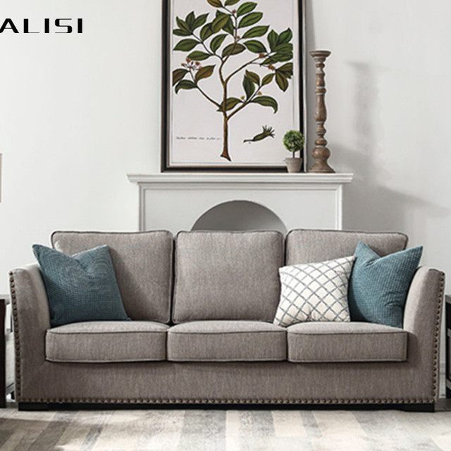 New Design home furniture Linen fabric American style sectional chestfield sofa set