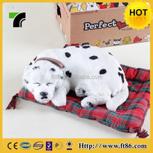 Perfect petzzz realistic fake fur sleeping breathing toy dog