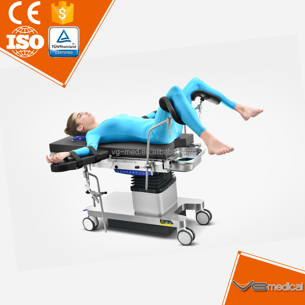 Electric multi-purpose gynaecology operating room bed table