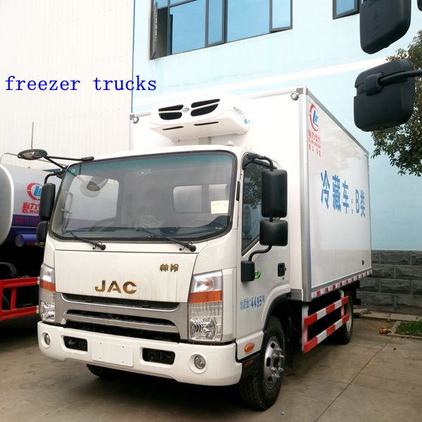Chian hot sale JAC refrigerator cooling van of freezer trucks