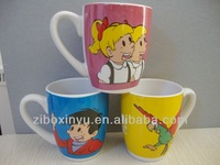 12 oz Belly ceramic coffee mugs with full body print FOR XINYU6