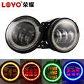 New Arrived !!!4 Inch Rgb Fog Original Osram Chip Led Lights for Jeep Wrangler with Turning Light