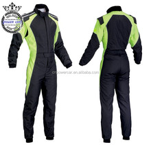 JDM Coverall Polyester Green Racing Suit Racing Clothing