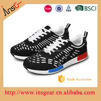 Swede leather running shoes, OEM sports shoes China manufacture