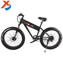 Factory 26 inch fat tire hidden battery snow e bike/ sand electric bike 250-750W 21 speeds