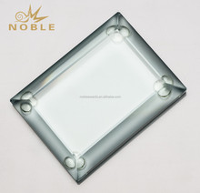 Whlesale Blank Rectangle Bevelled Edge Jade Glass Paperweight