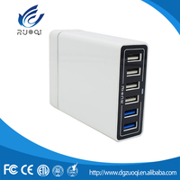 Hot selling cheap custom mobile phone universal multi port usb charger