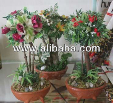 ARTIFICIAL BONSAI PROSPERITY PLANTS