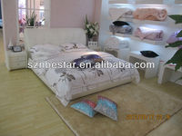 2013 latest modern simple bed furniture soft leather beds in china for sale