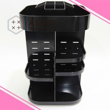 Acrylic Cosmetic Display Cases Mini Cosmetic Brush Makeup Drawer with Expandable Acrylic Cosmetic Organizer