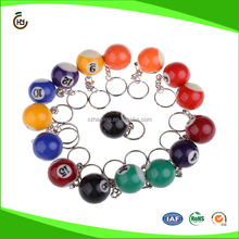 A Set of 16pcs Billiards Pool Eight Ball 32mm Model Keychain Key Rings Key Chains NO.1 to NO.15