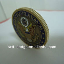 Painted Souvenir Brass Coins