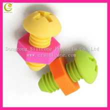 Promotional factory price custom-made silicone rubber bungs for wine bottle