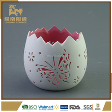 Easter Beautiful Egg Shaped Ceramic Nativity Candle Holder
