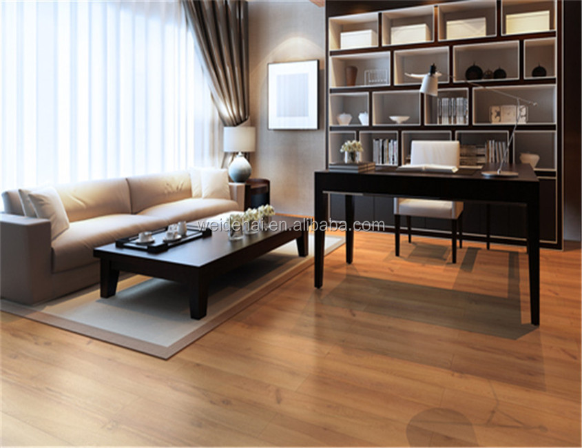 Roman Gold <strong>oak</strong> wood Look & Feel 8mm hdf DIY laminate flooring install with easy locking system