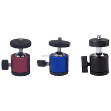Colorful 1/4 Screw Wholesale Camera Photographic Equipment Mini Tripod Ball Head Kit Shoe Mount