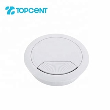 Topcent 60 mm plastic round computer table office desk cable wall wire hole cover grommets management