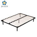 Cheap fabric double size slats bed frame modern design