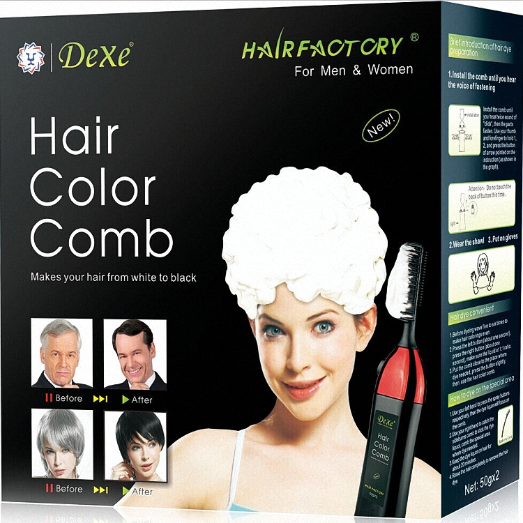 professional magic hair dye color comb with hair color cream
