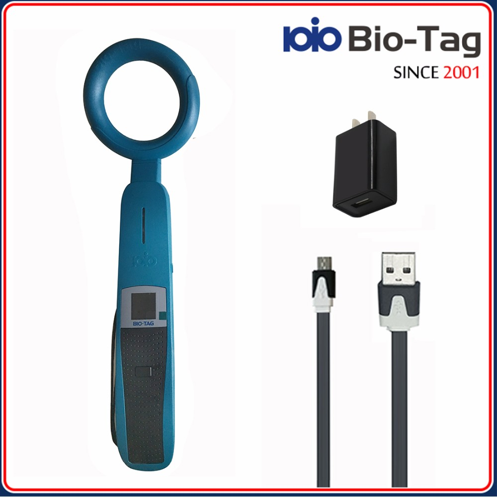 Bio-Tag Top-Standard-Quality ISO11784/85 FDX-B 134.2khz Long Handle rfid tag reader