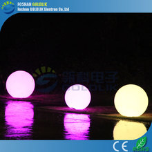 GLACS led music dancing furniture outdoor garden led glowing ball lamp/ ball light decoration /led illuminated sphere, led float