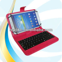 Business style for samsung galaxy 8.0 leather case with pen clip,8 inch tablet pc case keyboard