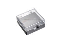 Cheap plastic transparent jewelry box for ring necklace gift pack