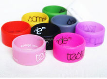unisex fashion rubber silicone finger band ring