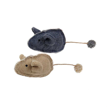 Beautiful Cuddly Fabric Crinkly Sound Mouse Shape Cat Toys