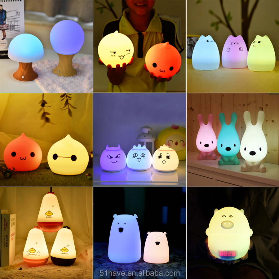 2016 High quality animal mini led baby night light with sensor night light