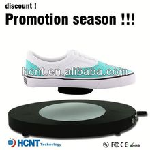 new invention ! magnetic levitating led display stand for shoe woman,middle-aged women shoes