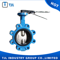 Lug Type Tomoe Butterfly Valve Ductile Iron Material