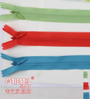 4# close-end woven type invisible zipper