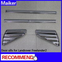 Sills Protector Cover Plate For Land Rover Freelander 2 LR2 06+Stainless steel door sills cars auto parts
